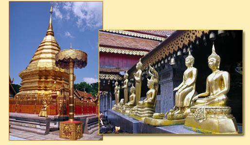 Đền chùa ở Thái Lan rất nhiều